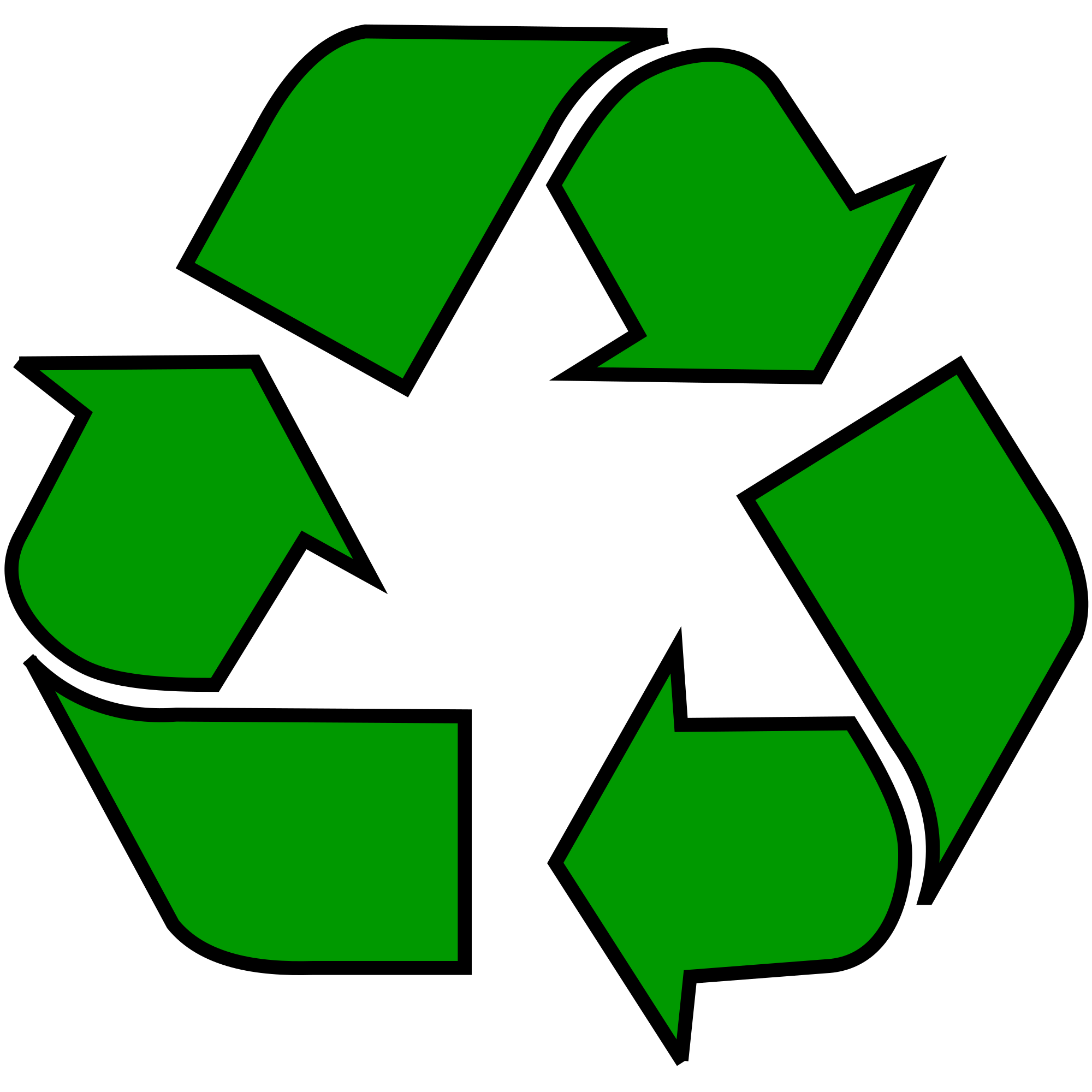 Fully Recyclable Symbol Logo Recycle